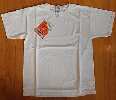 Gildan Insect Shield Repellent Youth White SS Cotton T-Shirt SZ L - New!