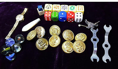 Jack Dice -  Buttons - 2 Meccano Spanners. Eclectic Mix
