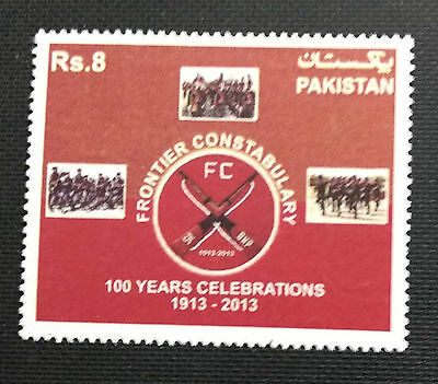 113.pakistan 2013  Stamp Frontier Constabulary 100 Years Celebrations.mnh