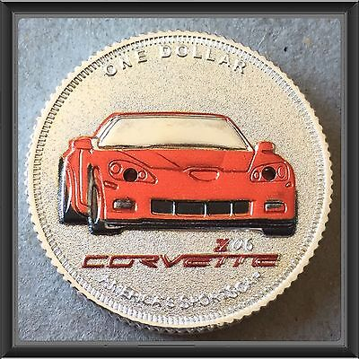 1908-2008 Colorized  Corvette silver coin ,Lights Actually Light Up #6
