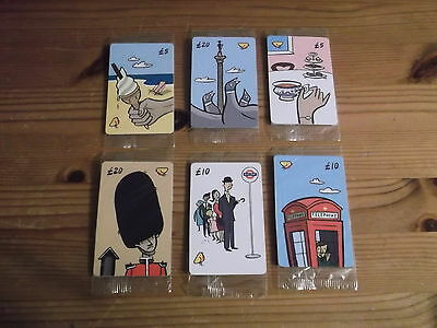 phone  cards set of 6  various cards  sealed