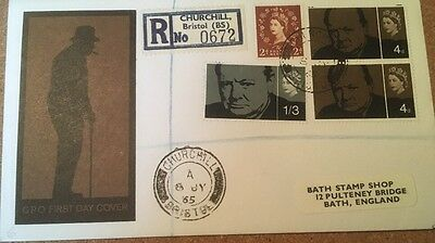 1965 Sir Winston Churchill cover bristol cancel