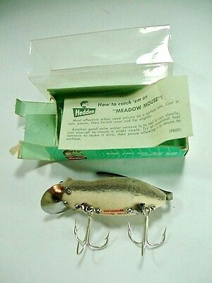 HEDDON: VINTAGE FISHING LURE: MEADOW MOUSE 9800 GM -- With BOX & INSTRUCTIONS