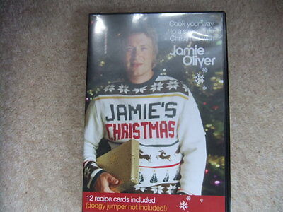 Jamie Oliver Xmas DVD & 12 Recipe cards COOK YOUR WAY TO A STRESS FREE CHRISTMAS