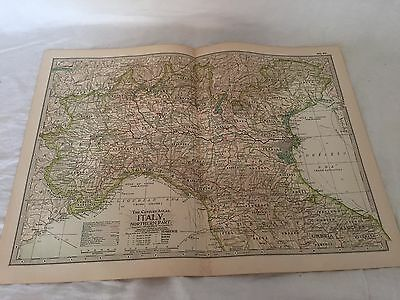 Vintage Italy The Map CENTURY DICTIONARY AND CYCLOPEDIA 1906 20126 Northern