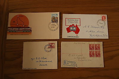 7 First Day Covers from 1948 to 1980