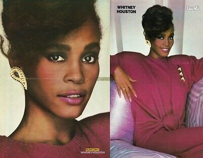 Whitney Houston  2 Rare Posters Same Shoot Debut Era in Pink Perfect Combination