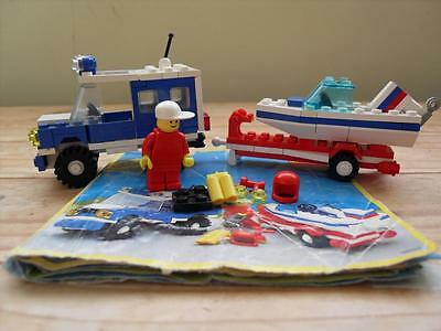Lego Set 6698 - RV and Speedboat with Instructions - Classic Town