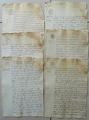LOT X 12 VERY RARE GREEK DOCUMENT PARCHMENT IONIAN ISLANDS GREECE / 19th