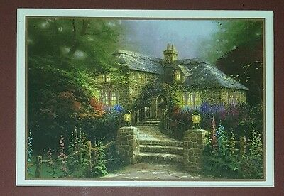 Thomas Kinkade Hollyhock House 13 X 11 Inch Print Double Matted Certificate