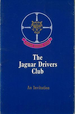 Jaguar Drivers Club Original Invitation to join booklet + application form 1970