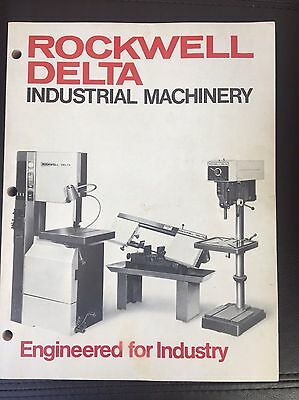 Vintage Rockwell Delta Industrial Machinery  Tool Catalog, 1972