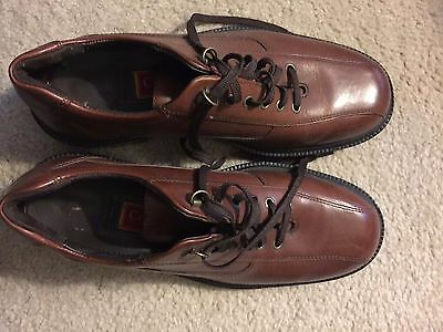 Cole Haan Men's Brown Patent Leather Lace Up Loafers Shoes Size 9M