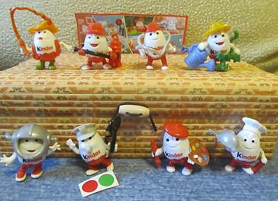 Kinder surprise egg comlete set: 2016 Kinderino Professions 8 mini toys + paper