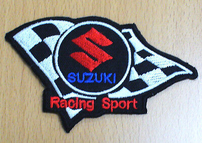 neu SUZUKI RACING SPORT moto gp superbike cross gpx Aufbügler Patch Aufnäher