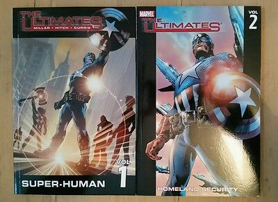 Ultimates v1&2 by Mark Millar Bryan Hitch TPB Graphic novels Avengers Iron Man