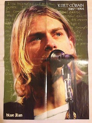 Kurt Cobain Poster 21.5x15.5 Profile Ankle from Audience Nirvana Singing