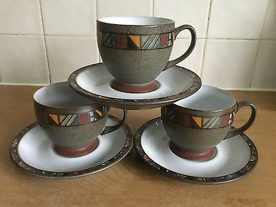 Denby Marrakesh - 3 Cups and Saucers