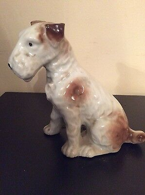 Airedale Terrier dog ornament, old