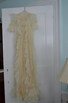 Gorgeous Antique Victorian Christening Gown 1890's