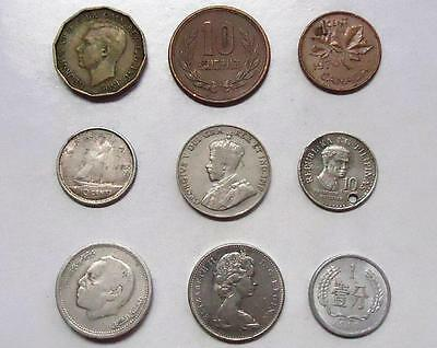 """Foreign Coins With Silver  """"lot Of 18"""""""