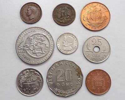 Foreign Coins With Silver,  Lot Of 18, *dates:1887 To Present*