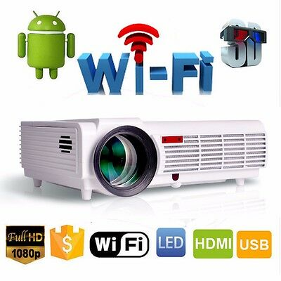 5000 Lumen 1080P Home Cinéma multimédia Android 4.4 HDMI USB LCD LED Projecteur