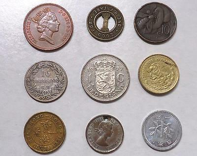 Foreign Coins With Silver,  Lot Of 18, *dates:1857 To Present*