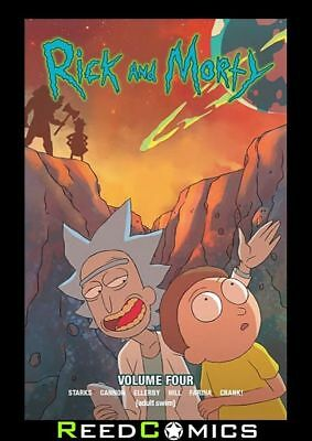RICK AND MORTY VOLUME 4 GRAPHIC NOVEL New Paperback Based On The Animated Show