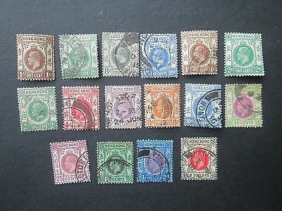 Hong Kong George V used (1 mint) selection-Read main descriptions/scans.Lot 9/9.