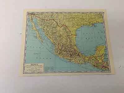 Mexico Original Old vintage Map 1963 Shipping Routes  United States Guatemala