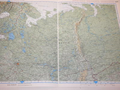 Large Map  North West Russia Old Original Print 1997 Xmas Gift Filler Historian