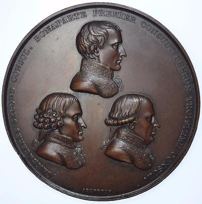 Napoleon - 1802 Promulgation of the Treaty of Amiens medal by Jeuffroy