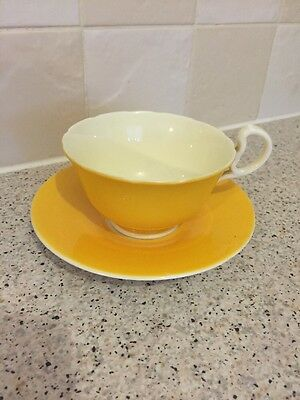 Vintage Aynsley China Yellow Cup & Saucer