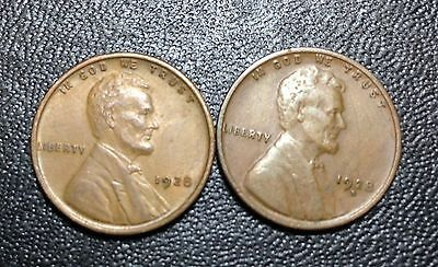Mixed Lot of Lincoln Cents (1928  P & D)  ** FREE US SHIPPING **
