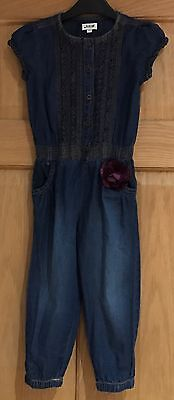 Girls Bows & Arrows Denim Blue Jumpsuit Age 2-3 Years