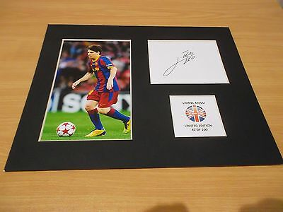 Lionel Messi mounted autographed pre print limited edition