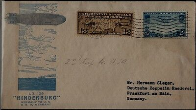 USA/Germany Zeppelin cover 26.5.36