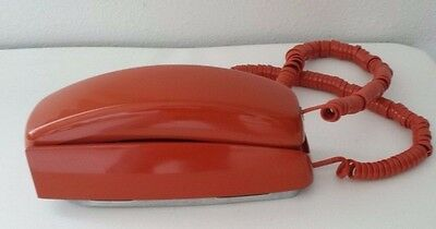 Vintage1980 Burnt Orange Western Electric Telephone Bell Trimline Touch Tone