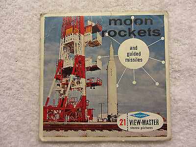 Moon Rockets & Guided Missiles 1959 Gaf View Master Reels Original Space B656 E