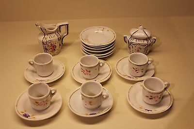 Vintage 1920s Childs and Dolls Tea set Dishes HAND MADE 20 Pieces Total W/ 6 Cup