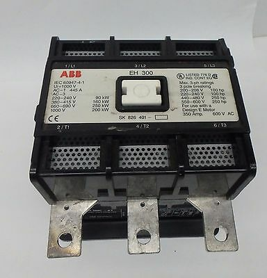 ABB EH-300 EH Series Contactor 250HP Max 350A 120VAC Coil EH300 EH 300 STARTER