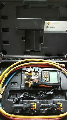 Testo 557 Refrigeration Digital Manifold Kit  Included Clamp Probes