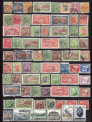 Iceland Lot of stamps. Used.
