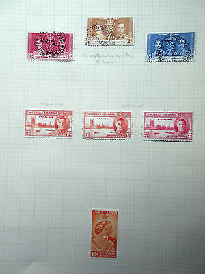Northern Rhodesia 19 Stamps Mint & Used.