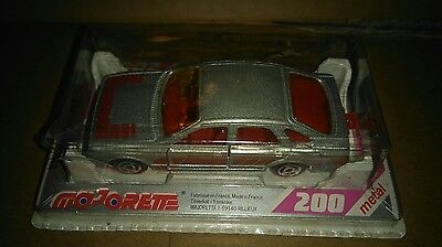 Majorette 200 Ford Sierra Silver  Die Cast 1:58 Scale Model new in packaging