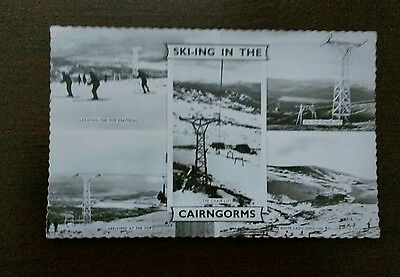 Cairngorms Skiing Valentine's Photo Postcard
