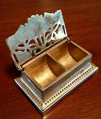 Art Nouveau Stamp Box Cast Brass
