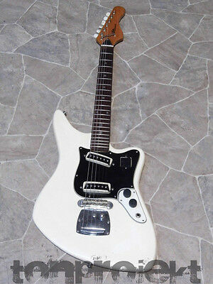 vintage white ARIA DIAMOND 1532T E GItarre surf beat guitar Mij Japan 1960s