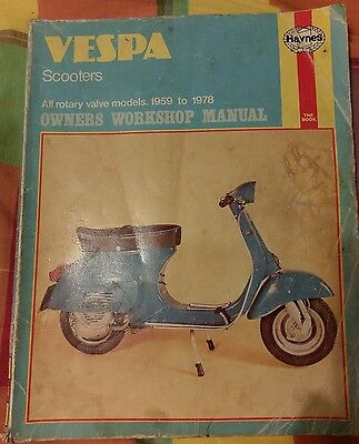 Manual Classic Vespa Scooters Rotary Valve Models 1959-1978 Haynes Workshop